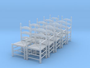 1:43 Pilgrim's Chairs (Set of 10) in Frosted Ultra Detail