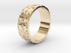 Per aspera ad astra Ring Size 11.5 in 14K Yellow Gold