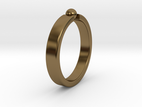 Ø19.22mm - 0.757 inches Ring in Polished Bronze