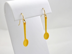 Spoon Earrings in Yellow Processed Versatile Plastic