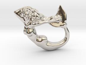 Mermaiden Fair - Mermaid Pendant in Rhodium Plated Brass