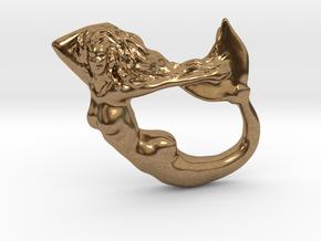 Mermaiden Fair - Mermaid Pendant in Natural Brass