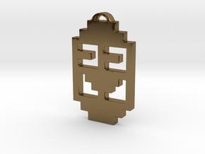 "Journey Pendant- ""Koko"" Symbol in Polished Bronze"