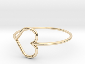 Size 11 Love Heart in 14K Yellow Gold