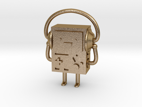 BMO with headphones in Polished Gold Steel