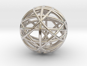 VECTAGON SPHERE in Rhodium Plated