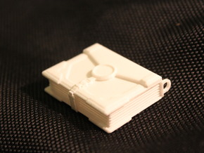 The Phase-Locket (4cm) in White Processed Versatile Plastic