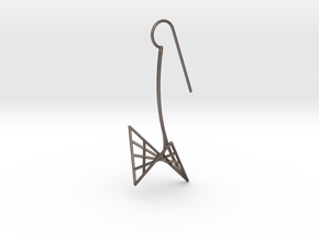 swan (medium) in Polished Bronzed Silver Steel
