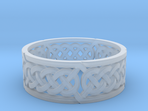 Celtic Quad Knot Ring in Smooth Fine Detail Plastic