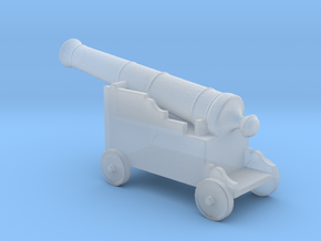 Miniature 1:48 Pirate Cannon in Smooth Fine Detail Plastic