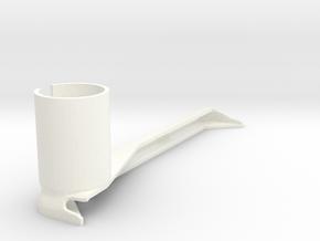 iPad Air 1 Cam/Cmpd Microscope Adapter in White Processed Versatile Plastic