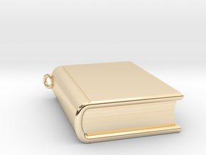 Book Nibbler - Custom in 14K Yellow Gold