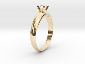 Ø19.70 Mm Diamond Ring Ø4.8 Diamond mm Fit in 14k Gold Plated Brass
