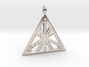 GLEAMING FIRELIGHT in Rhodium Plated