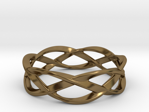 Weave Ring (Large) in Polished Bronze