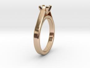 Ø19.62 Mm Diamond Ring Ø5.6 Mm Diamond Fit in 14k Rose Gold Plated Brass