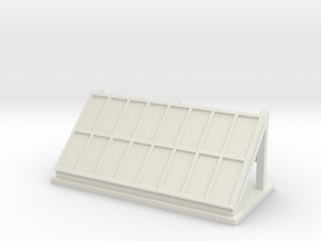 Solar Array Built Up 1-87 HO Scale in White Natural Versatile Plastic