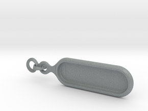 Biolace customizable keychain in Polished Metallic Plastic