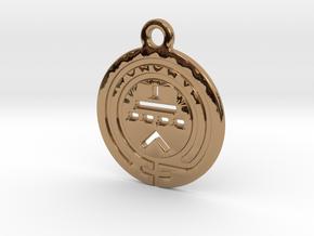 TriodeGirl Logo Key Fob 1 in Polished Brass