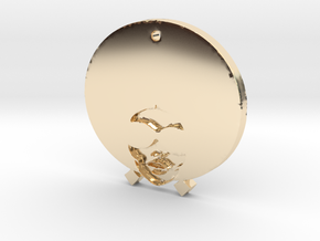 Funky Afro Girl in 14K Yellow Gold