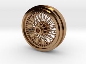 1/8 Wire Wheel Front, with 72 spokes in Polished Brass