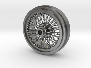 1/8 Wire Wheel Front, with 72 spokes in Natural Silver