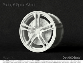 Racing Wheel 01_56mm in White Strong & Flexible