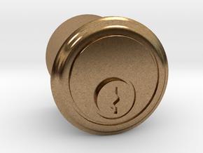 1/6 Scale TARDIS Lock V.2 in Natural Brass