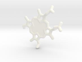 Heme-group KeyChain in White Processed Versatile Plastic