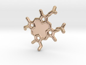 Heme-group KeyChain in 14k Rose Gold Plated Brass