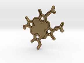 Heme-group KeyChain in Polished Bronze