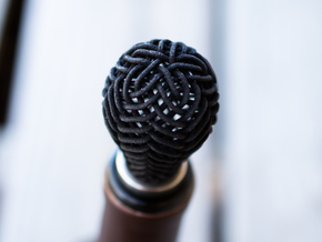 Wine Stopper in Black Natural Versatile Plastic