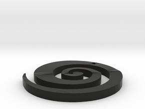 Swirl Ear Ring in Black Natural Versatile Plastic