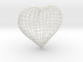 Love heart in White Natural Versatile Plastic