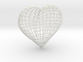 Love heart in White Strong & Flexible