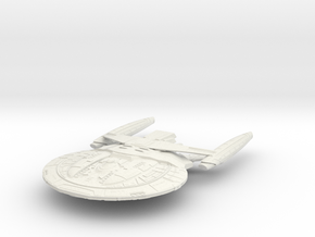 Brass Class BattleCruiser in White Natural Versatile Plastic
