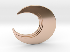 Rossi | Moon Earring in 14k Rose Gold Plated Brass