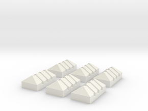 Piquete Standar,Picket G Scale 6 Units (1:22) in White Natural Versatile Plastic
