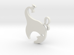 Hungry Whale Bottle Opener in White Natural Versatile Plastic