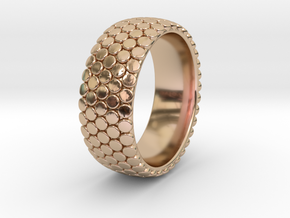 Dot Ring 1 SIZE 10.5 in 14k Rose Gold Plated Brass