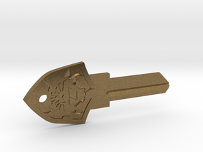 Zelda Shield House Key Blank - SC1/68 in Natural Bronze