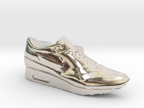 Nike Air Max 1 Lacelock (1 piece) in Rhodium Plated Brass