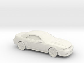 1/87 2003 Ford Mustang Cobra Convertible in White Natural Versatile Plastic