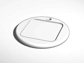 keychain tag round border emboss in White Natural Versatile Plastic