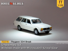 Peugeot 504 Break (TT 1:120) in Smooth Fine Detail Plastic