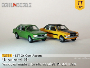 SET 2x Opel Ascona B (TT 1:120) in Frosted Ultra Detail