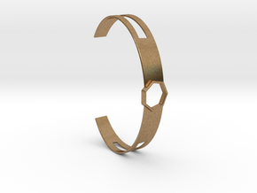 Armband Metall 7-Eck Heptagon slice in Natural Brass