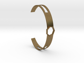Armband Metall 7-Eck Heptagon slice in Natural Bronze