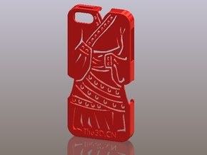 iPhone5_The Chinese Style -- Ancient costume 02 in Red Processed Versatile Plastic
