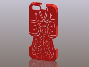 iPhone5_The Chinese Style -- Ancient costume 03 in Red Processed Versatile Plastic